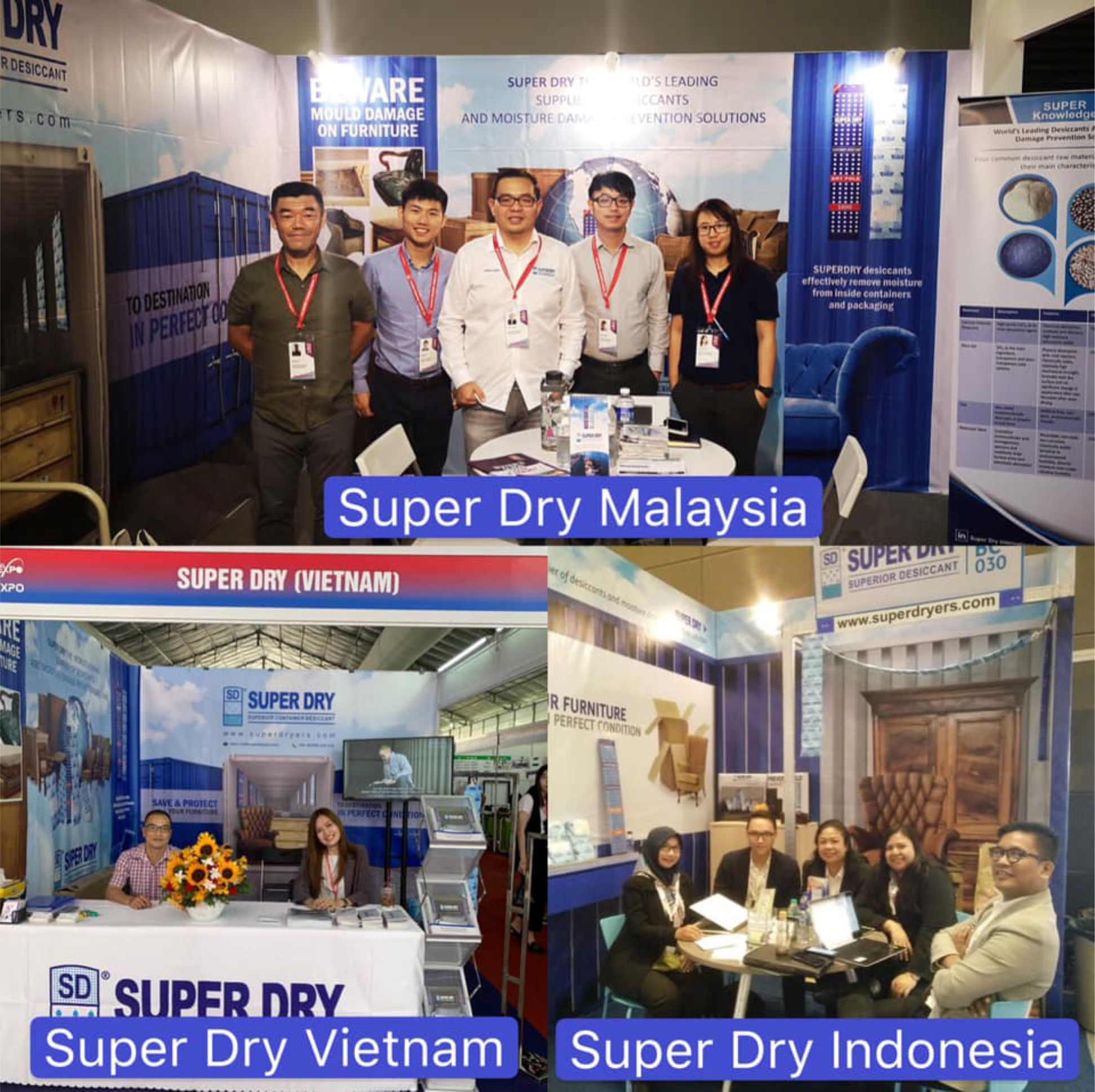Super Dry International working together participants in 3 countries International Furniture Exhibition