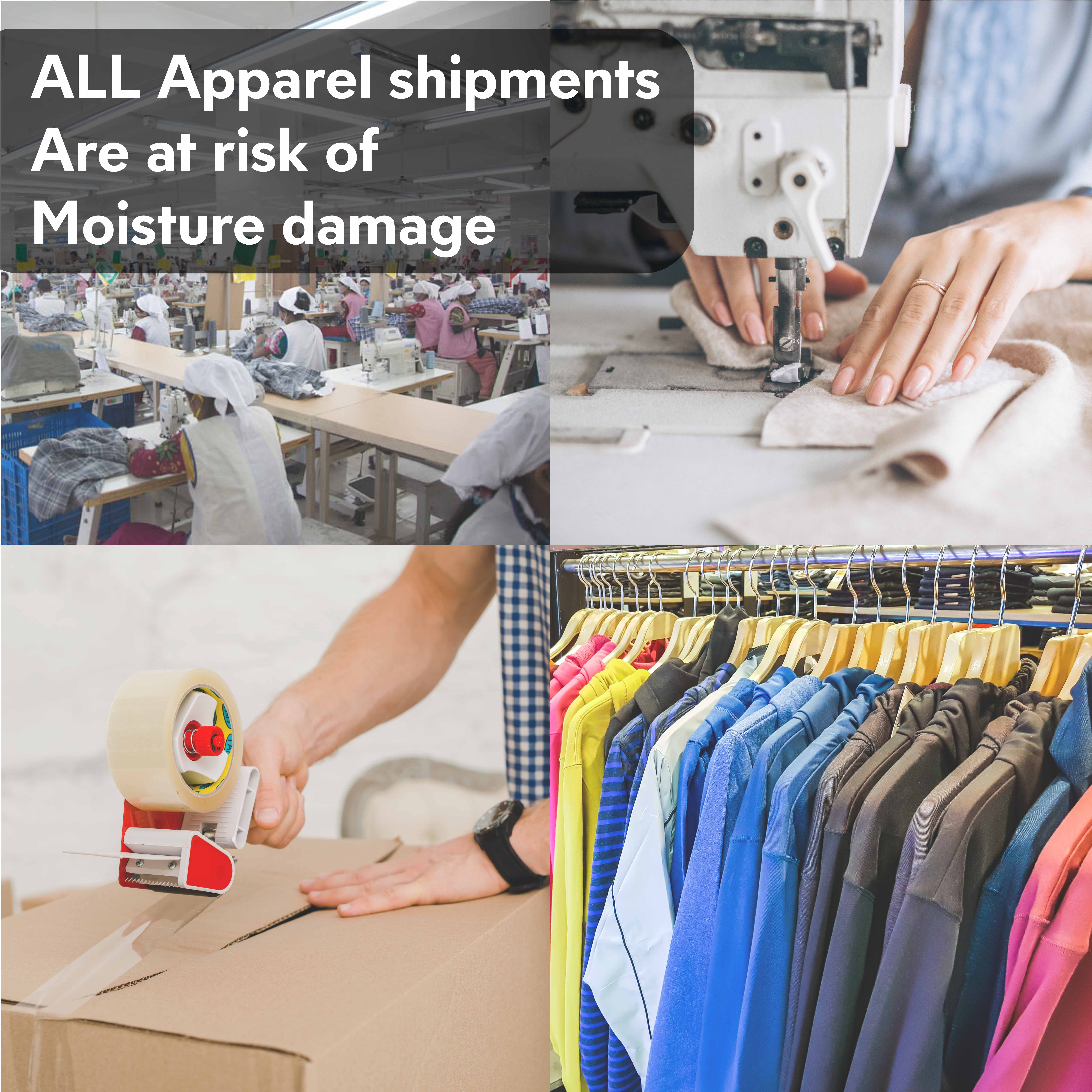 #ALL Apparel shipments are at risk of moisture damage