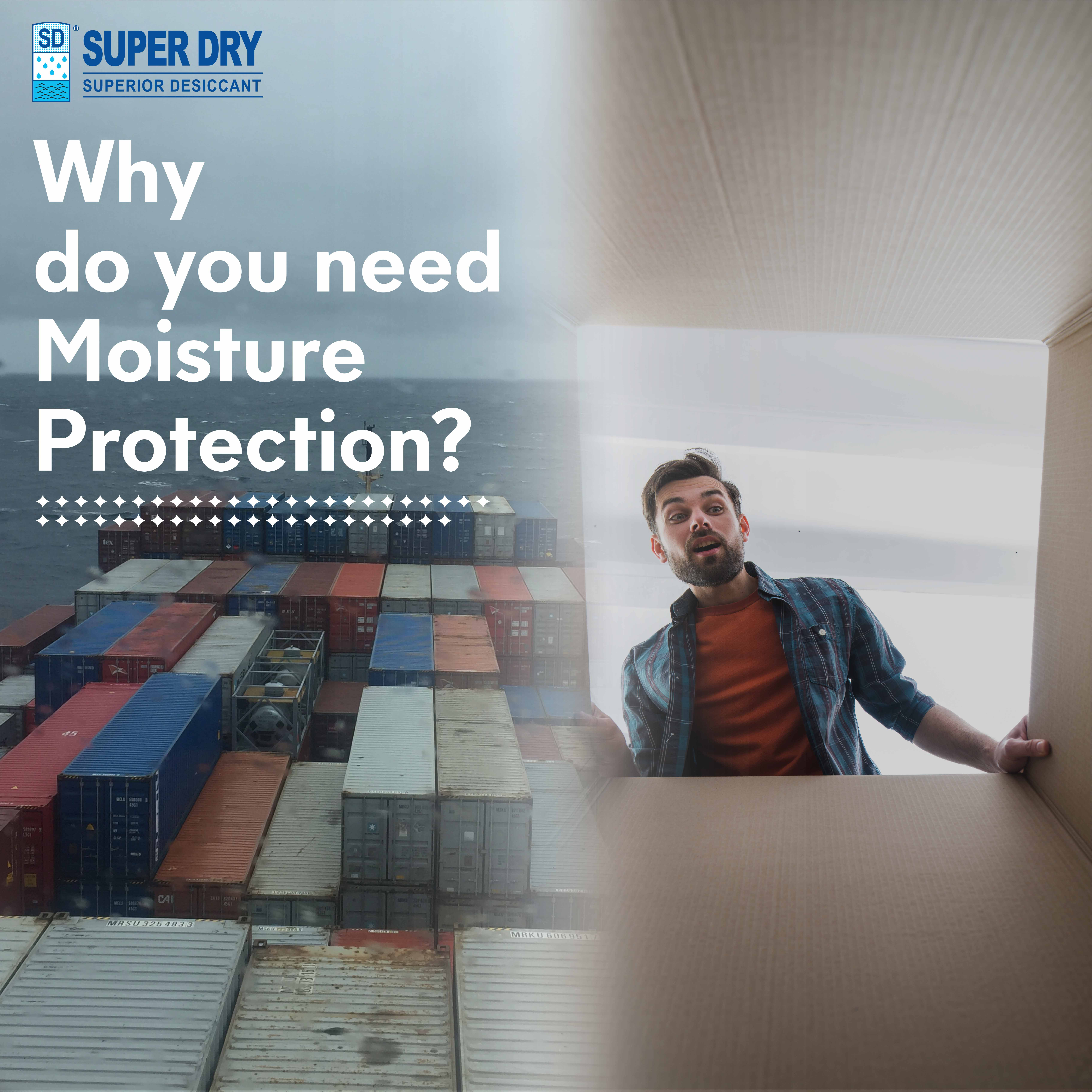 #Are you prepared for expensive claims caused by moisture damage during transport and storage of your products?
