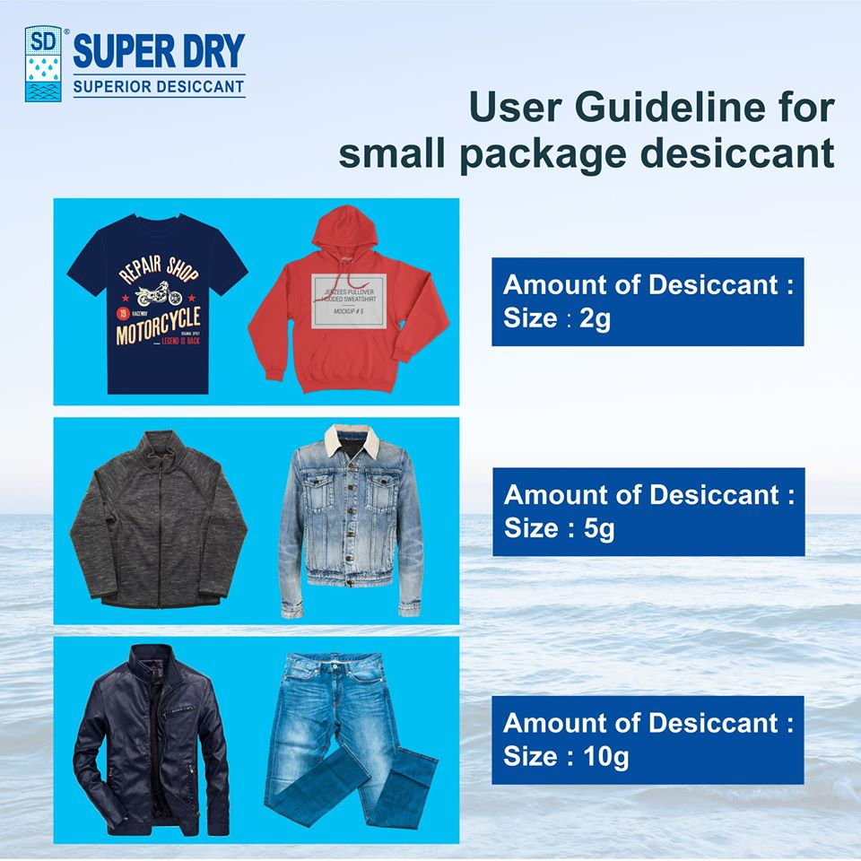 #User guideline for small package desiccant