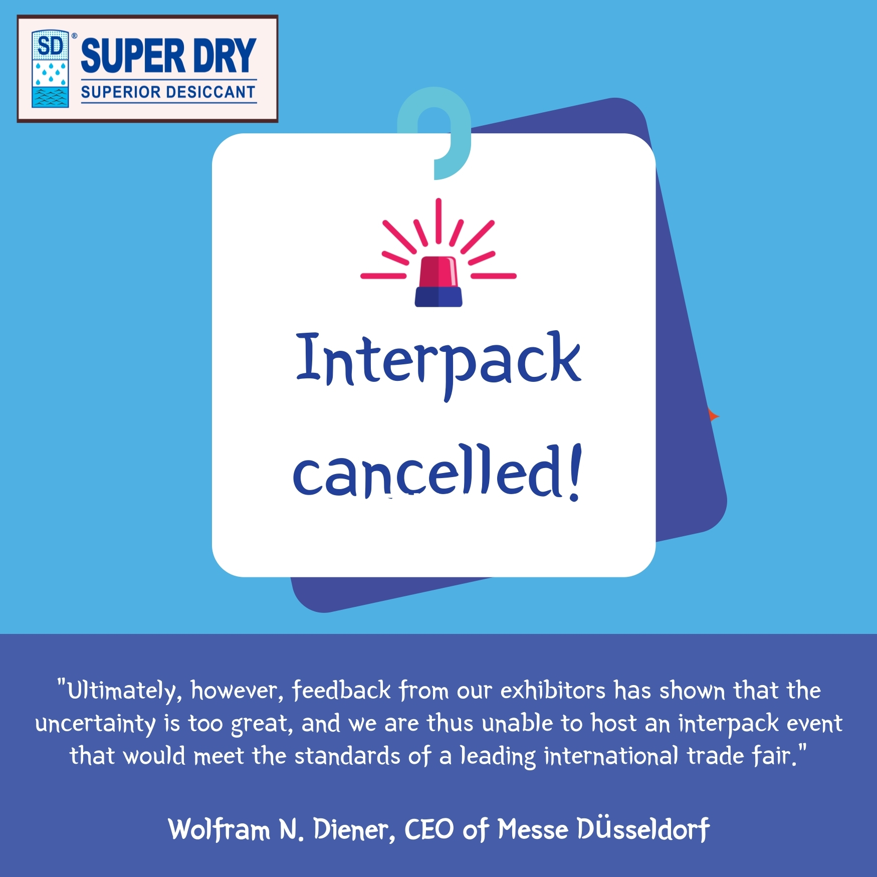 #Cancellation of the Interpack 2021